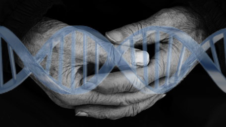 old hand wiith DNA