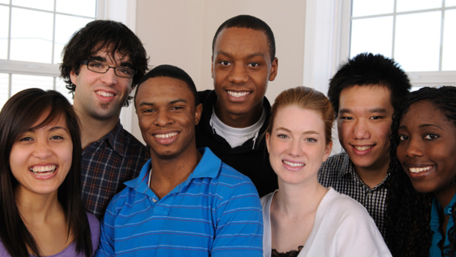 young people of different ethinic backgrounds