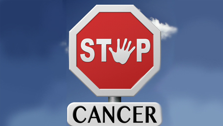stop cancer stop sign