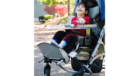 child in wheelchair