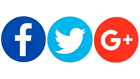 Facebook, Twitter and Google Plus