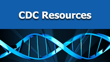 CDC Resources with and image of DNA