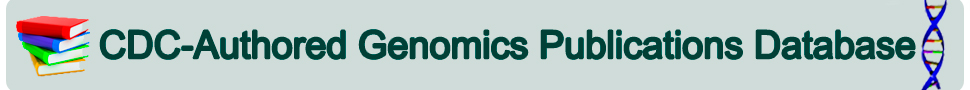 CDC Authored Genomics Publication Database